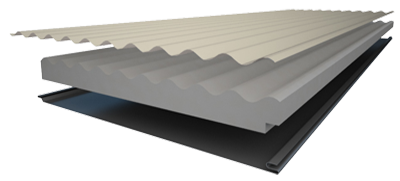 Insulspan Insulated Roofing Panels   Corrugated Steel Profile