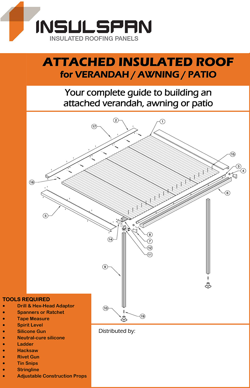 INSULSPAN insulated patio panels - Complete guide to building an attached insulated panel roof for verandah, awning or patio.