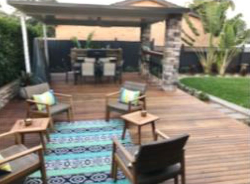 The clients wanted to 'jazz' up their back yard and extend their entertaining area flowing from inside to outside. They wanted to use this area all year round without being effected by the rain and heat.